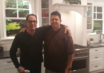 Chef Cristian with Sam